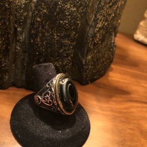 Men`s Agate Ring sterling silver 925